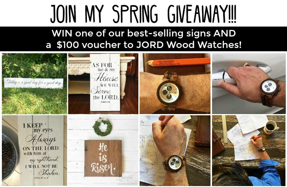 JORD Wood Watch & Peaceful Home Sign Giveaway
