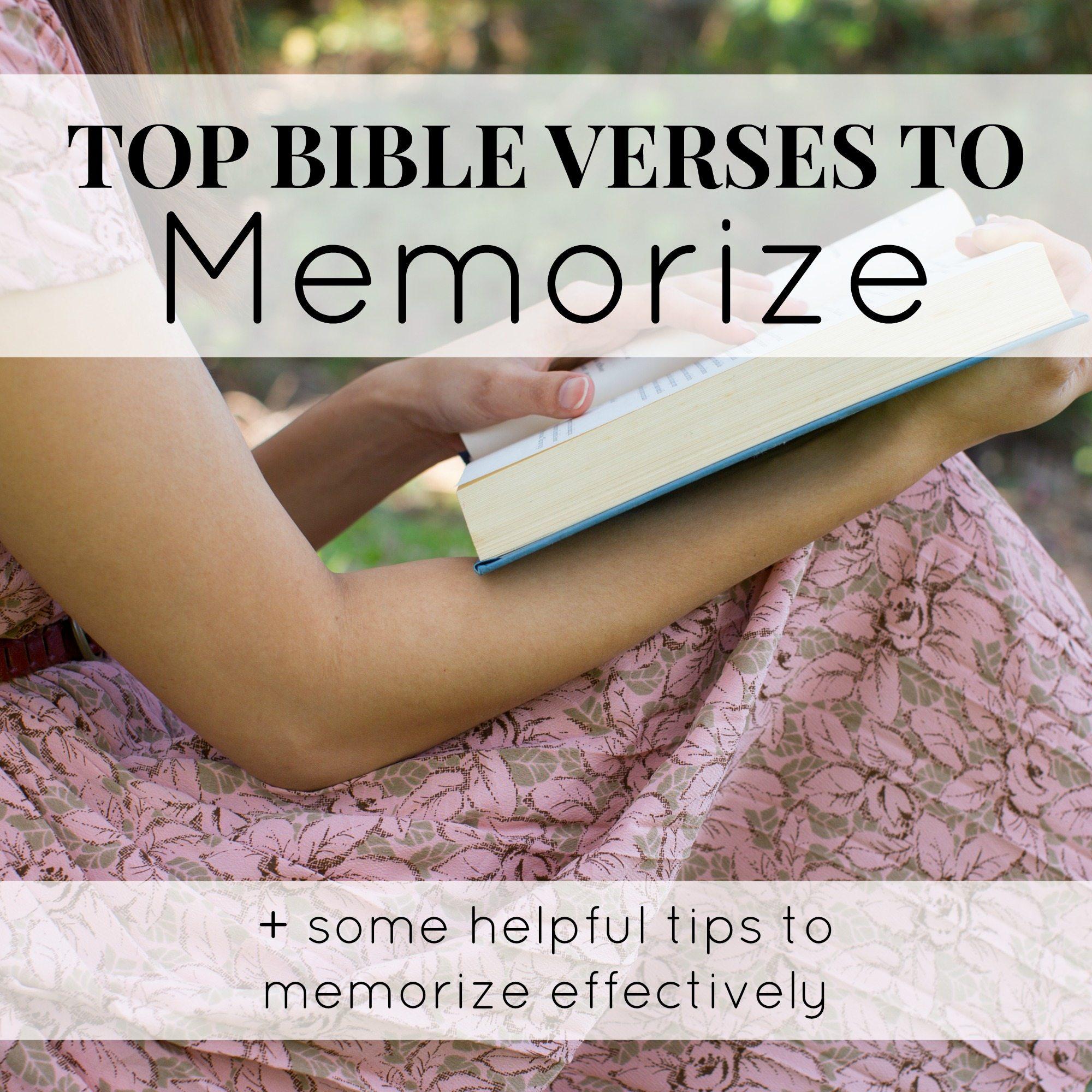 Top Bible Verses to Memorize