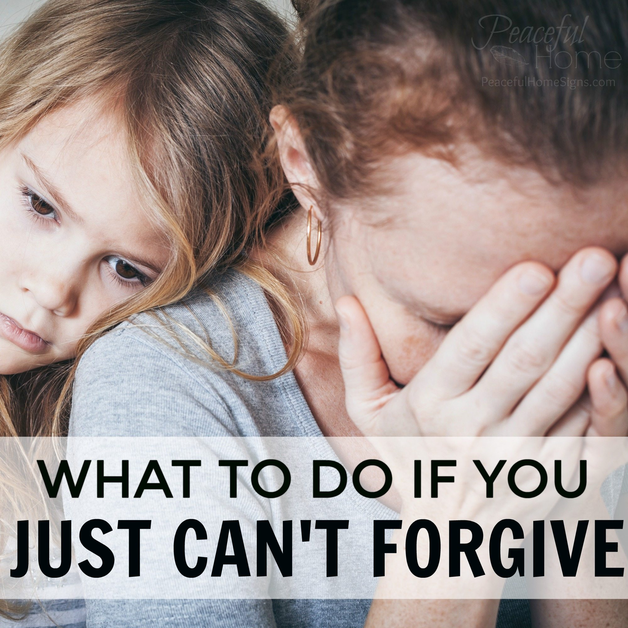 What to do if you just can't forgive