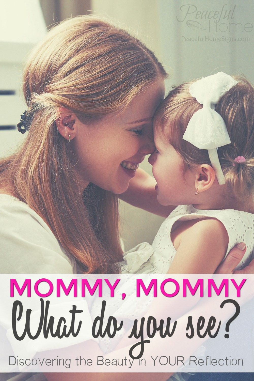 When I look in the mirror, I don't always like what I see. But becoming a mommy has made it more important than ever for me to improve my self-image. | Self image and motherhood. | Setting the right example for our daughters. | How to see yourself as beautiful. | Overcoming post-baby insecurity.