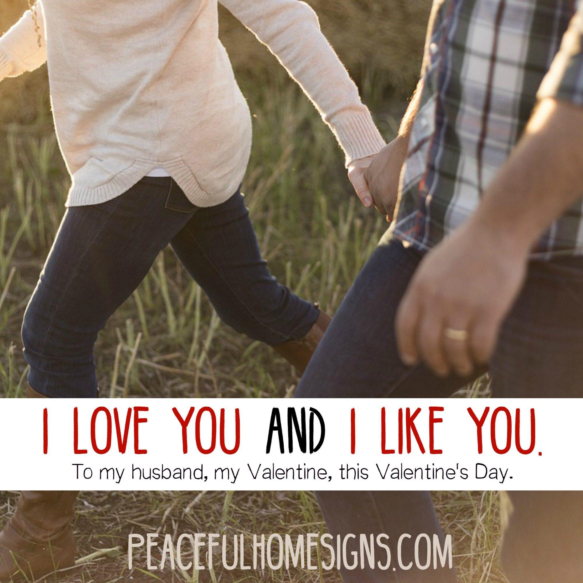 I love you and I like you