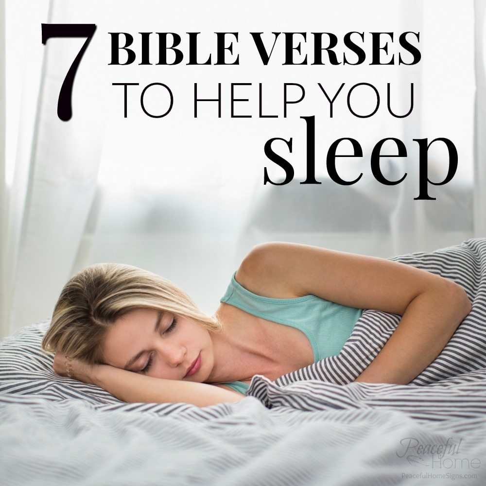 Bedtime Prayer & 7 Bible Verses to Help You Sleep