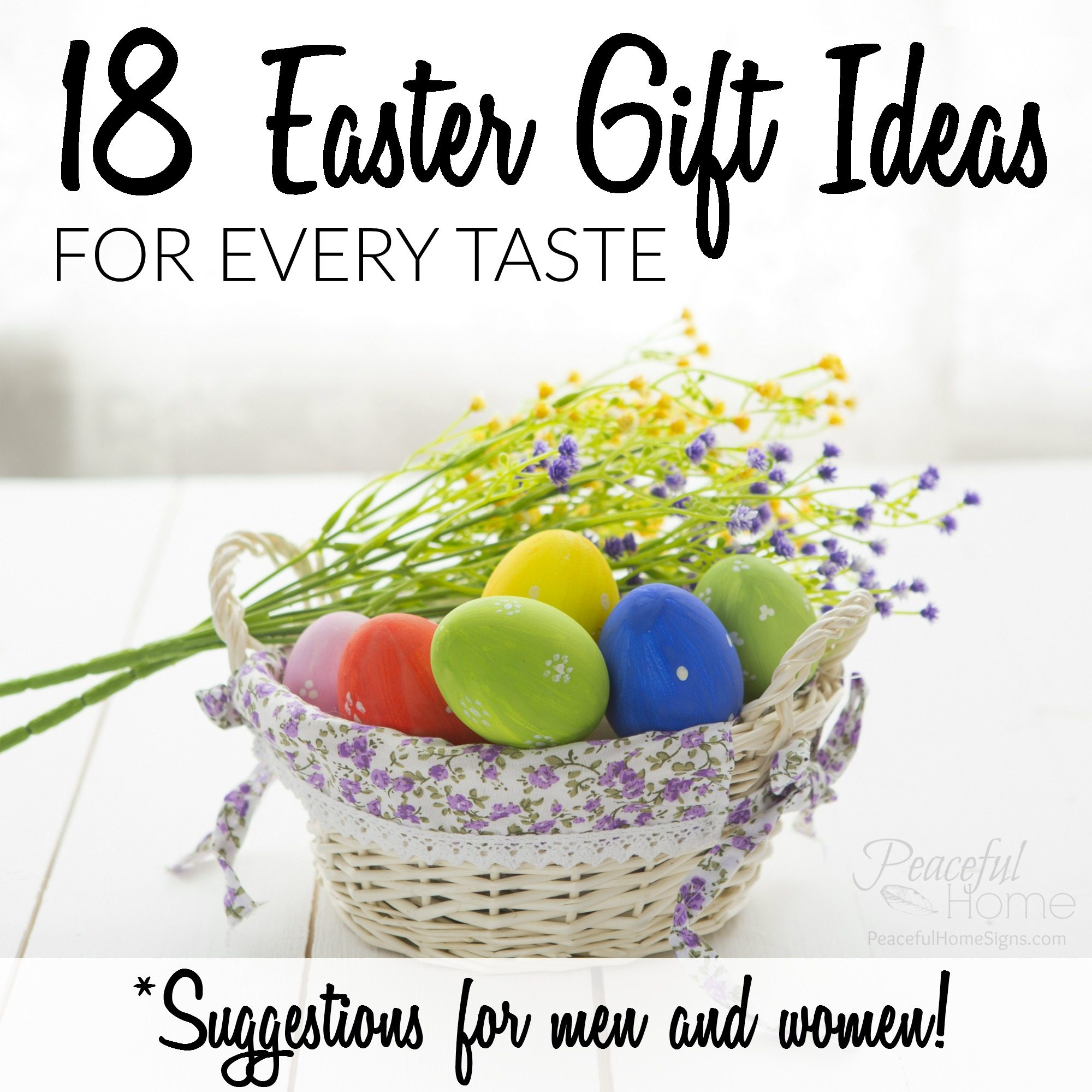 18 easter gift ideas for every taste men women peaceful home negle Gallery