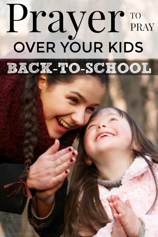 Prayer for children | Mother's prayer | Back to school prayer | Pray over your kids | Prayer before school | Morning Blessing for Students