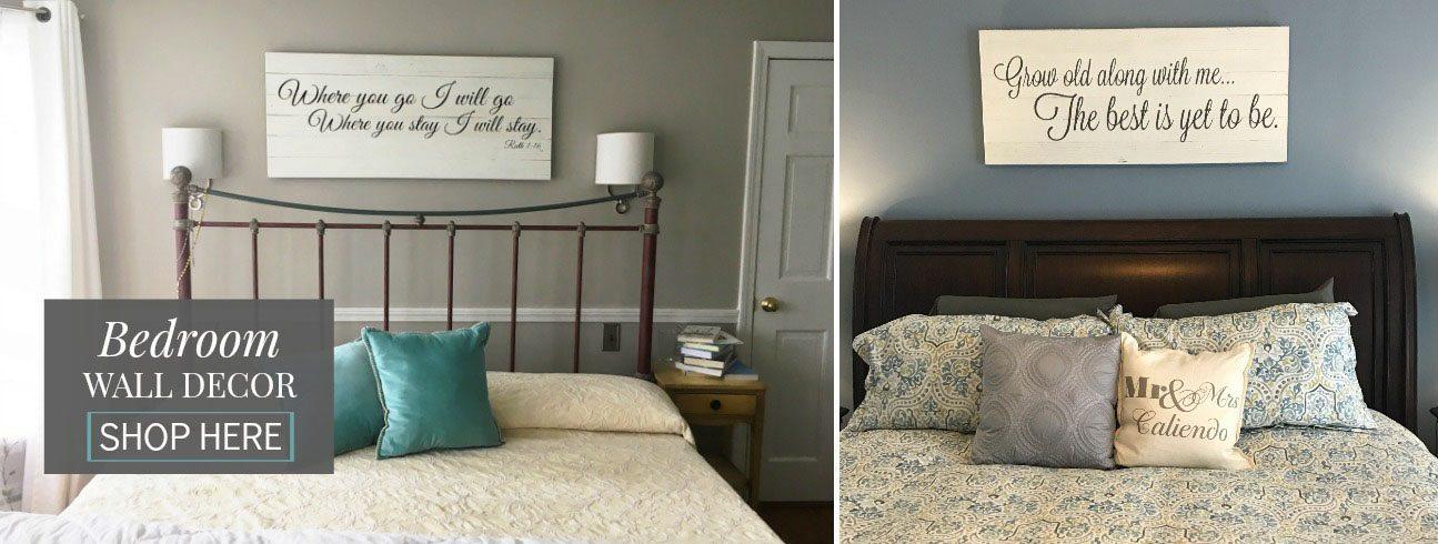 Bedroom Wall Art | Reclaimed Wood Signs | Slider