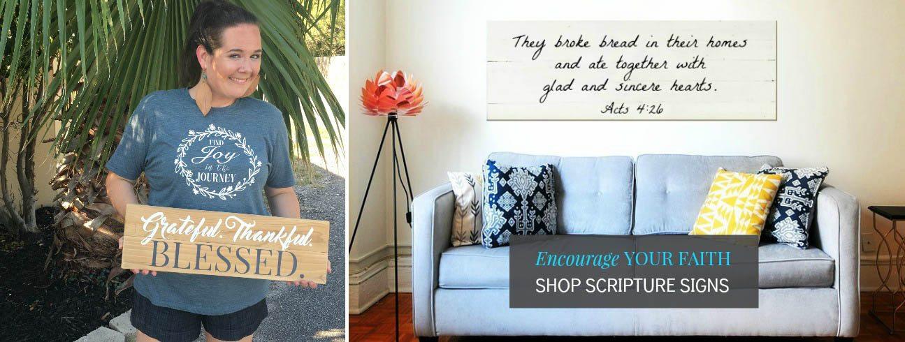 Encourage Your Faith | Reclaimed Wood Signs | Slider