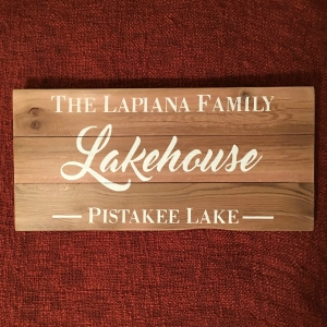Standard Lakehouse Sign | $70